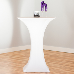 white cocktail table cover