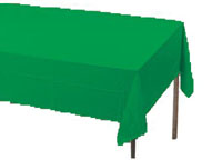 green rectangular table cover