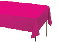 pink rectangular table cover