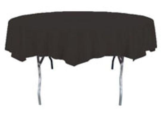 black round table covers