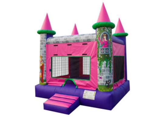 princess bounce house, princess jumper