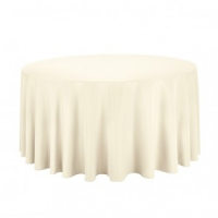 Ivory Round Table Linen