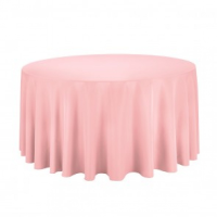 Pink Round Table Linen